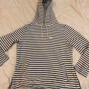 J Crew hooded striped sweatshirt